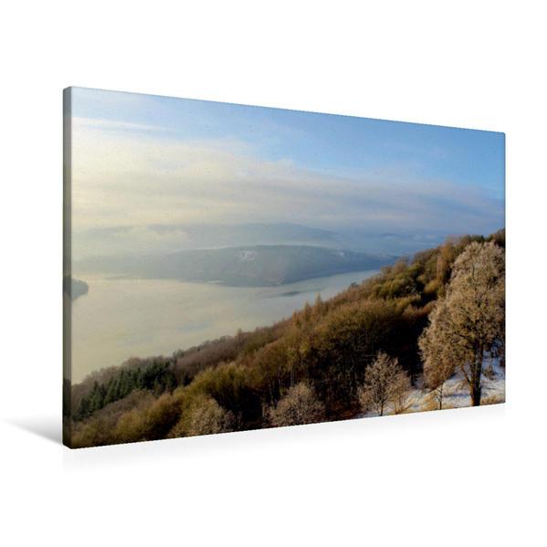 Premium Textil-Leinwand 90 cm x 60 cm quer, Winterblick | Wandbild, Bild auf Keilrahmen, Fertigbild auf echter Leinwand, Leinwanddruck - Coverbild