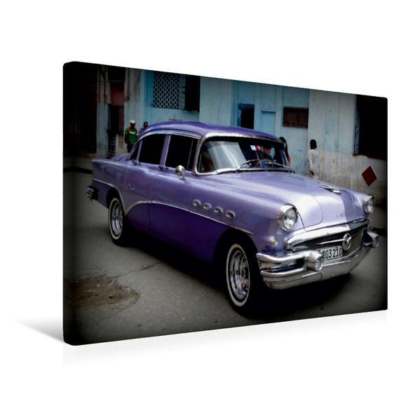 Premium Textil-Leinwand 45 cm x 30 cm quer, BUICK in Havanna - Ein Motiv aus dem Kalender