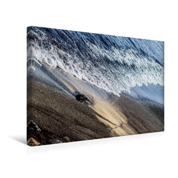 Premium Textil-Leinwand 45 cm x 30 cm quer, Aschesand und Meer | Wandbild, Bild auf Keilrahmen, Fertigbild auf echter Leinwand, Leinwanddruck - Coverbild
