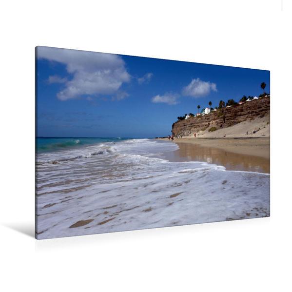 Premium Textil-Leinwand 120 cm x 80 cm quer, Playa de Butihondo | Wandbild, Bild auf Keilrahmen, Fertigbild auf echter Leinwand, Leinwanddruck - Coverbild