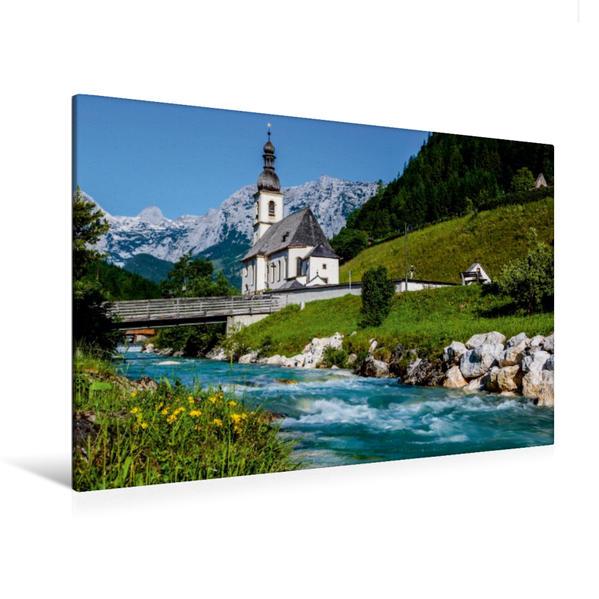 Premium Textil-Leinwand 120 cm x 80 cm quer, Ramsau - Alpen | Wandbild, Bild auf Keilrahmen, Fertigbild auf echter Leinwand, Leinwanddruck - Coverbild