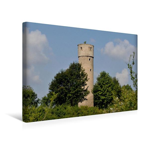 Premium Textil-Leinwand 45 cm x 30 cm quer, Landturm | Wandbild, Bild auf Keilrahmen, Fertigbild auf echter Leinwand, Leinwanddruck - Coverbild