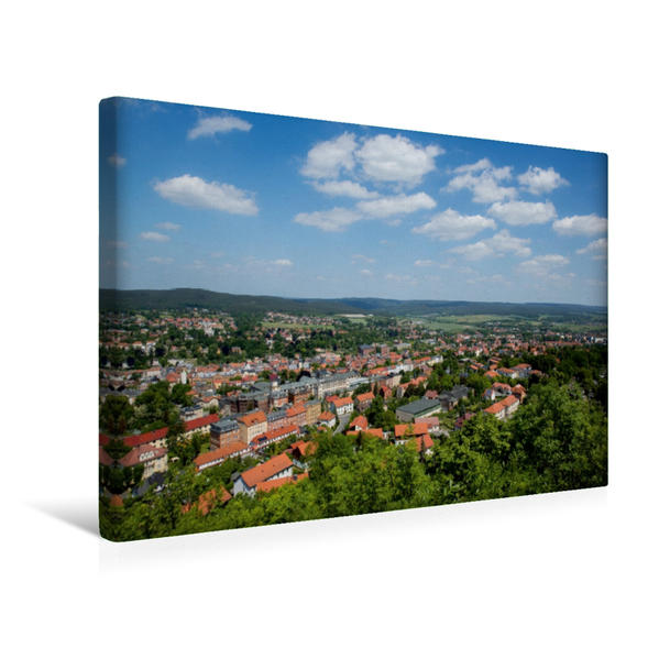 Premium Textil-Leinwand 45 cm x 30 cm quer, Stadtpanorama | Wandbild, Bild auf Keilrahmen, Fertigbild auf echter Leinwand, Leinwanddruck - Coverbild