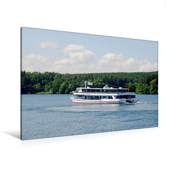 Premium Textil-Leinwand 120 cm x 80 cm quer, Möhnesee | Wandbild, Bild auf Keilrahmen, Fertigbild auf echter Leinwand, Leinwanddruck - Coverbild