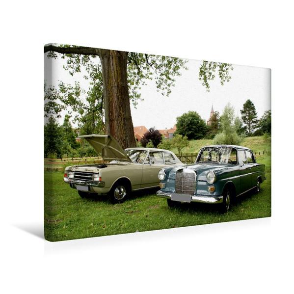 Premium Textil-Leinwand 45 cm x 30 cm quer, Automobile vergangener Jahrzehnte | Wandbild, Bild auf Keilrahmen, Fertigbild auf echter Leinwand, Leinwanddruck - Coverbild