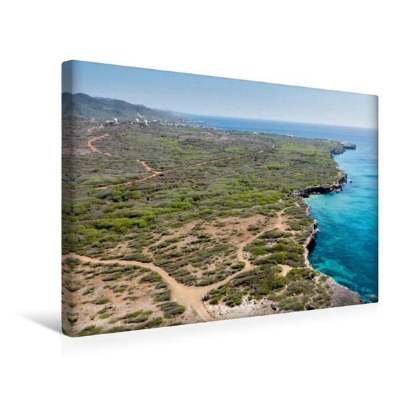 Premium Textil-Leinwand 45 cm x 30 cm quer, Playa Kenepa Chiki (kleine Knip) | Wandbild, Bild auf Keilrahmen, Fertigbild auf echter Leinwand, Leinwanddruck - Coverbild
