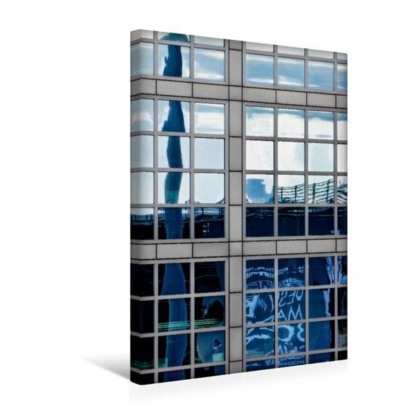 Premium Textil-Leinwand 30 cm x 45 cm hoch, Ein Motiv aus dem Kalender Spiegelungen in der Architektur | Wandbild, Bild auf Keilrahmen, Fertigbild auf echter Leinwand, Leinwanddruck - Coverbild