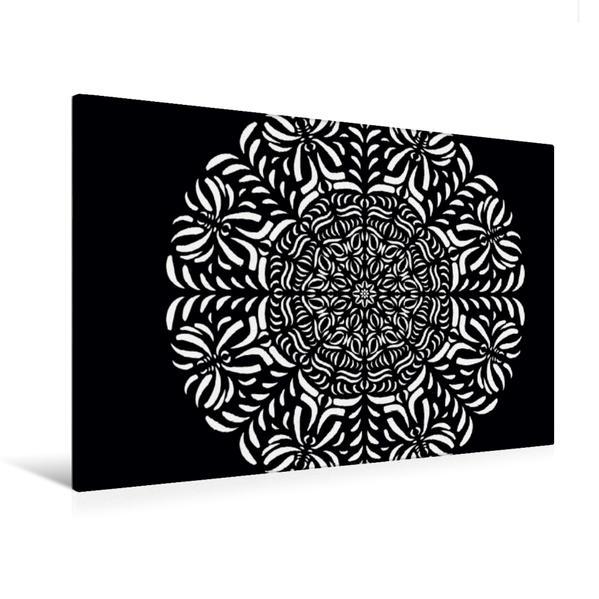 Premium Textil-Leinwand 120 cm x 80 cm quer, Ein Motiv aus dem Kalender Entspannung und Ruhe durch Mandalas | Wandbild, Bild auf Keilrahmen, Fertigbild auf echter Leinwand, Leinwanddruck - Coverbild