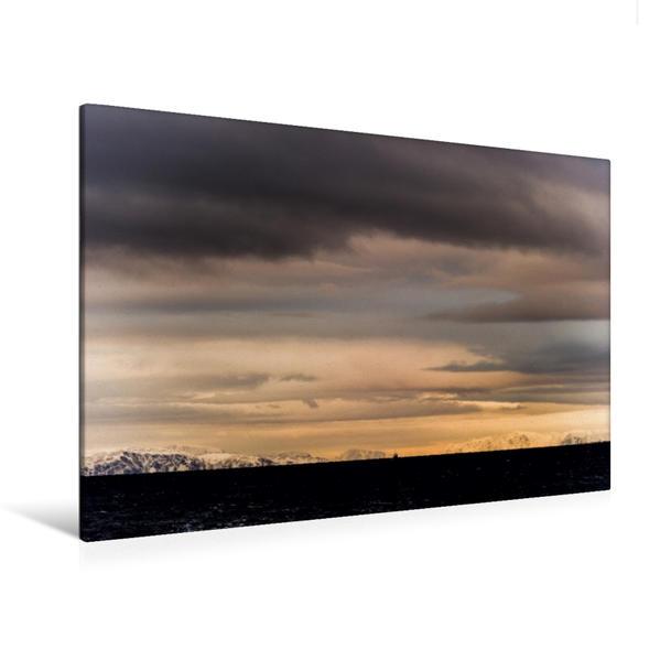 Premium Textil-Leinwand 120 cm x 80 cm quer, Ein Motiv aus dem Kalender Hurtigruten | Wandbild, Bild auf Keilrahmen, Fertigbild auf echter Leinwand, Leinwanddruck - Coverbild