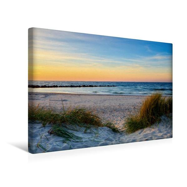 Premium Textil-Leinwand 45 cm x 30 cm quer, Strandgenuss | Wandbild, Bild auf Keilrahmen, Fertigbild auf echter Leinwand, Leinwanddruck - Coverbild