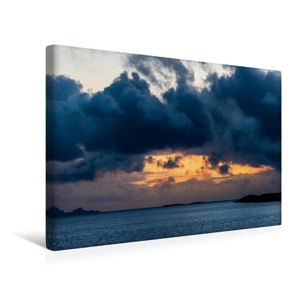 Premium Textil-Leinwand 45 cm x 30 cm quer, Nähe Brønnøy | Wandbild, Bild auf Keilrahmen, Fertigbild auf echter Leinwand, Leinwanddruck - Coverbild