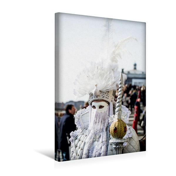 Premium Textil-Leinwand 30 cm x 45 cm hoch, Ein Motiv aus dem Kalender Venezianischer Maskenzauber | Wandbild, Bild auf Keilrahmen, Fertigbild auf echter Leinwand, Leinwanddruck - Coverbild