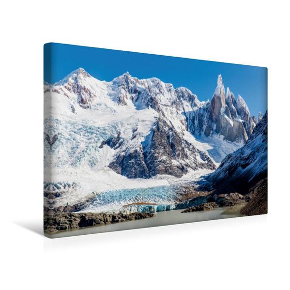 Premium Textil-Leinwand 45 cm x 30 cm quer, Laguna Torre   Wandbild, Bild auf Keilrahmen, Fertigbild auf echter Leinwand, Leinwanddruck - Coverbild