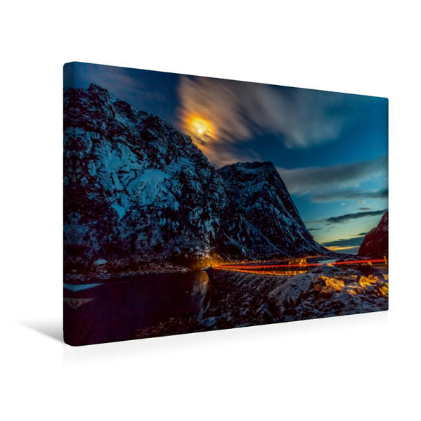 Premium Textil-Leinwand 45 cm x 30 cm quer, Mondlicht | Wandbild, Bild auf Keilrahmen, Fertigbild auf echter Leinwand, Leinwanddruck - Coverbild