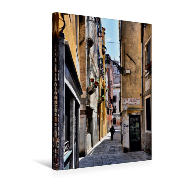 Premium Textil-Leinwand 50 cm x 75 cm hoch, Ein Motiv aus dem Kalender Venedig   Wandbild, Bild auf Keilrahmen, Fertigbild auf echter Leinwand, Leinwanddruck - Coverbild
