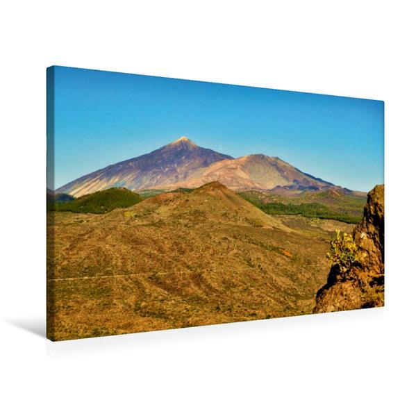 Premium Textil-Leinwand 75 cm x 50 cm quer, Teide | Wandbild, Bild auf Keilrahmen, Fertigbild auf echter Leinwand, Leinwanddruck - Coverbild