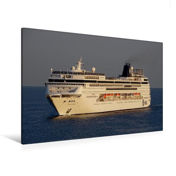 Premium Textil-Leinwand 120 cm x 80 cm quer, Kreuzfahrtschiff MSC SINFONIA | Wandbild, Bild auf Keilrahmen, Fertigbild auf echter Leinwand, Leinwanddruck - Coverbild