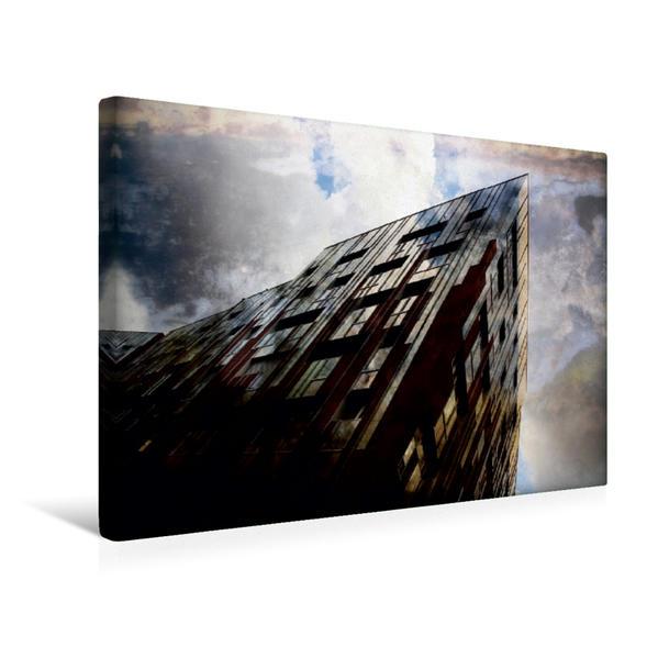 Premium Textil-Leinwand 45 cm x 30 cm quer, Hamburg Hafencity | Wandbild, Bild auf Keilrahmen, Fertigbild auf echter Leinwand, Leinwanddruck - Coverbild