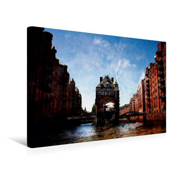 Premium Textil-Leinwand 45 cm x 30 cm quer, Hamburg Dienerreihe   Wandbild, Bild auf Keilrahmen, Fertigbild auf echter Leinwand, Leinwanddruck - Coverbild