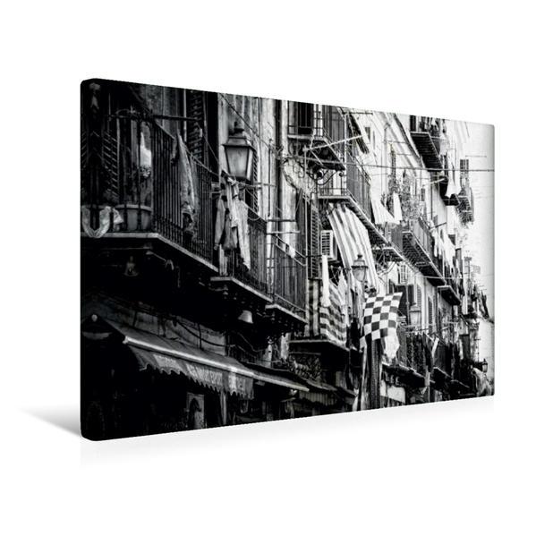 Premium Textil-Leinwand 45 cm x 30 cm quer, Palermo - Stadtviertel Ballaro | Wandbild, Bild auf Keilrahmen, Fertigbild auf echter Leinwand, Leinwanddruck - Coverbild