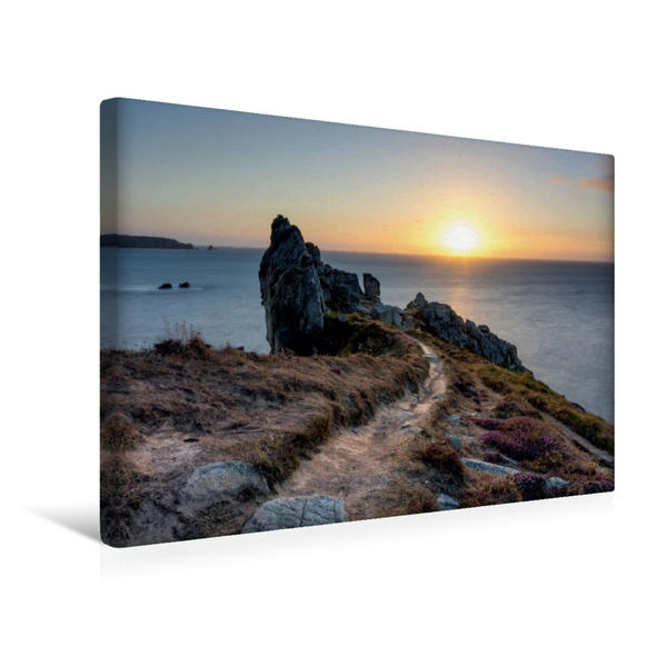 Premium Textil-Leinwand 45 cm x 30 cm quer, Ein Motiv aus dem Kalender Sehnsucht Bretagne   Wandbild, Bild auf Keilrahmen, Fertigbild auf echter Leinwand, Leinwanddruck - Coverbild