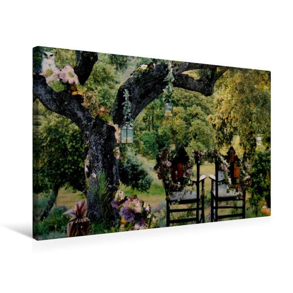 Premium Textil-Leinwand 75 cm x 50 cm quer, Zauberfest   Wandbild, Bild auf Keilrahmen, Fertigbild auf echter Leinwand, Leinwanddruck - Coverbild