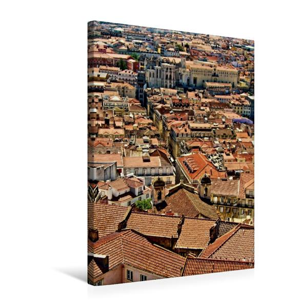 Premium Textil-Leinwand 50 cm x 75 cm hoch, Dächermeer | Wandbild, Bild auf Keilrahmen, Fertigbild auf echter Leinwand, Leinwanddruck - Coverbild