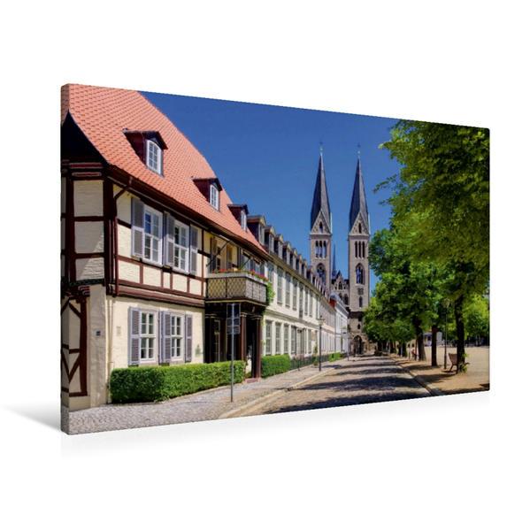 Premium Textil-Leinwand 90 cm x 60 cm quer, Halberstadt | Wandbild, Bild auf Keilrahmen, Fertigbild auf echter Leinwand, Leinwanddruck - Coverbild