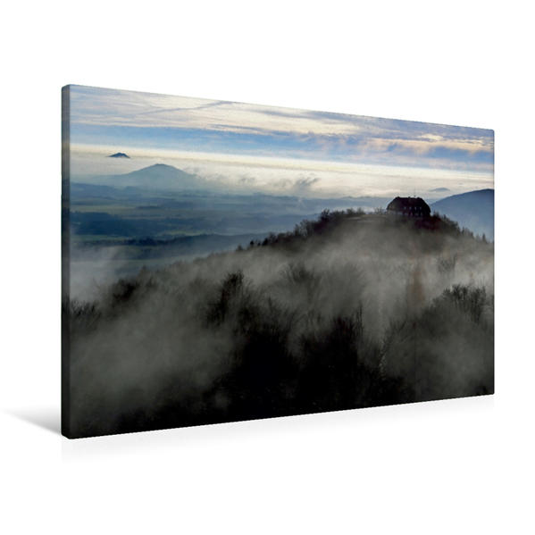 Premium Textil-Leinwand 90 cm x 60 cm quer, Ein Motiv aus dem Kalender Das Zittauer Gebirge   Wandbild, Bild auf Keilrahmen, Fertigbild auf echter Leinwand, Leinwanddruck - Coverbild