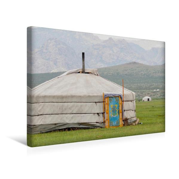 Premium Textil-Leinwand 45 cm x 30 cm quer, Jurte   Wandbild, Bild auf Keilrahmen, Fertigbild auf echter Leinwand, Leinwanddruck - Coverbild