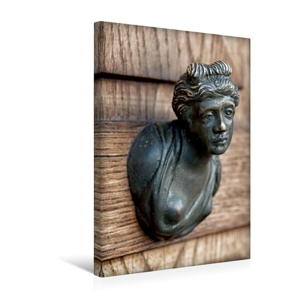 Premium Textil-Leinwand 30 cm x 45 cm hoch, Ein Motiv aus dem Kalender Venezianische Türklopfer | Wandbild, Bild auf Keilrahmen, Fertigbild auf echter Leinwand, Leinwanddruck - Coverbild