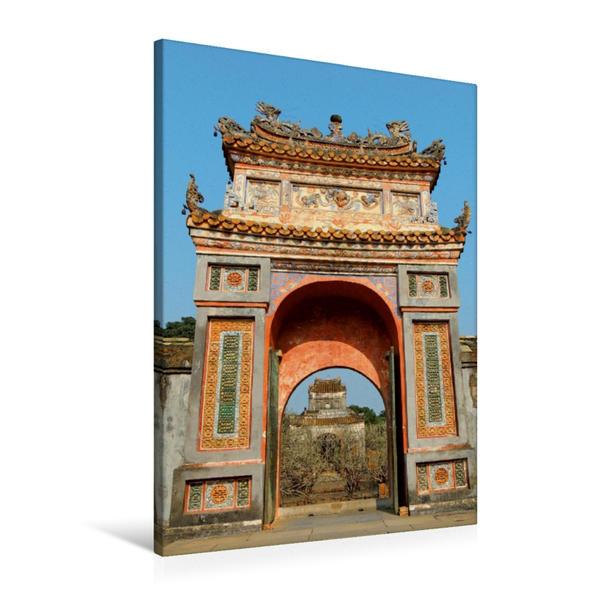 Premium Textil-Leinwand 60 cm x 90 cm hoch, Vin Tranh Pagode | Wandbild, Bild auf Keilrahmen, Fertigbild auf echter Leinwand, Leinwanddruck - Coverbild