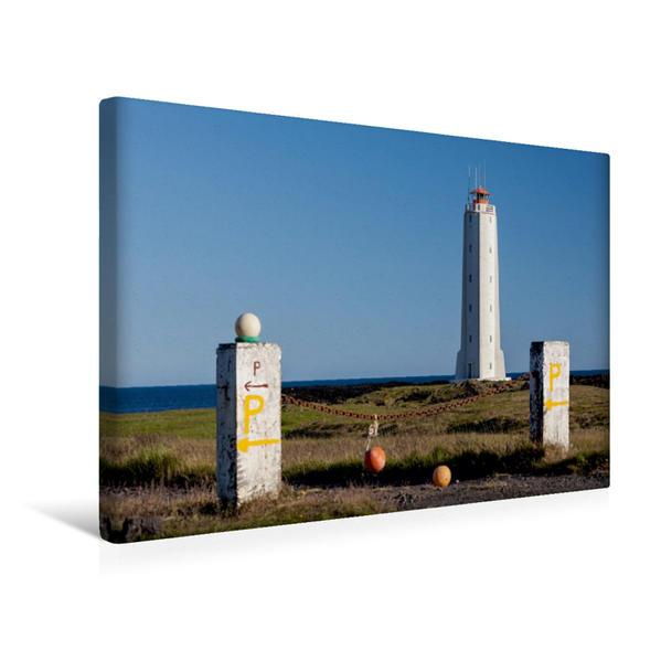Premium Textil-Leinwand 45 cm x 30 cm quer, Leuchtturm Malariff | Wandbild, Bild auf Keilrahmen, Fertigbild auf echter Leinwand, Leinwanddruck - Coverbild
