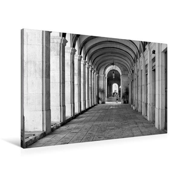 Premium Textil-Leinwand 90 cm x 60 cm quer, Säulengang | Wandbild, Bild auf Keilrahmen, Fertigbild auf echter Leinwand, Leinwanddruck - Coverbild