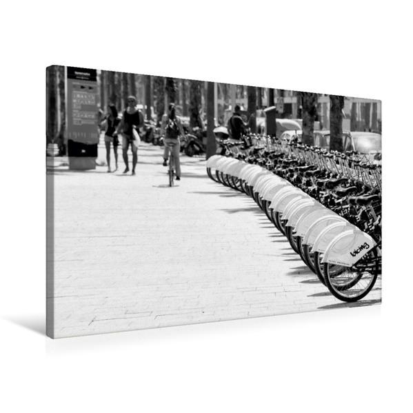 Premium Textil-Leinwand 75 cm x 50 cm quer, Leihräder   Wandbild, Bild auf Keilrahmen, Fertigbild auf echter Leinwand, Leinwanddruck - Coverbild