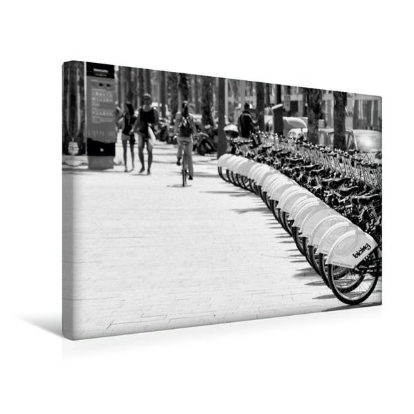 Premium Textil-Leinwand 45 cm x 30 cm quer, Leihräder | Wandbild, Bild auf Keilrahmen, Fertigbild auf echter Leinwand, Leinwanddruck - Coverbild