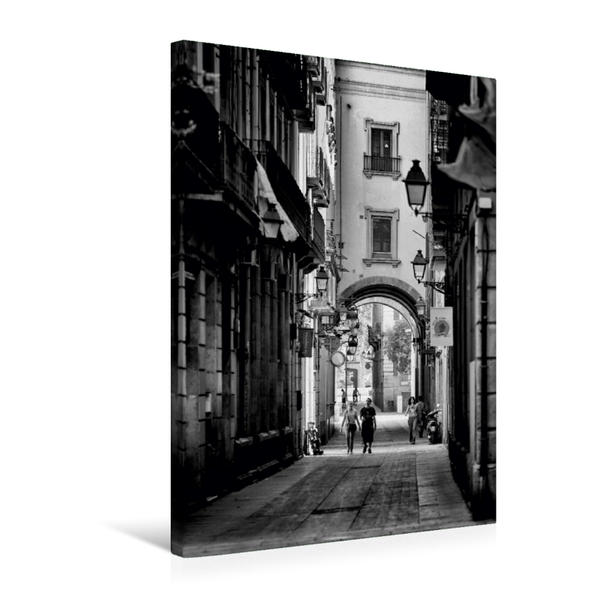 Premium Textil-Leinwand 50 cm x 75 cm hoch, Ein Motiv aus dem Kalender In den Straßen und Gassen Barcelonas | Wandbild, Bild auf Keilrahmen, Fertigbild auf echter Leinwand, Leinwanddruck - Coverbild