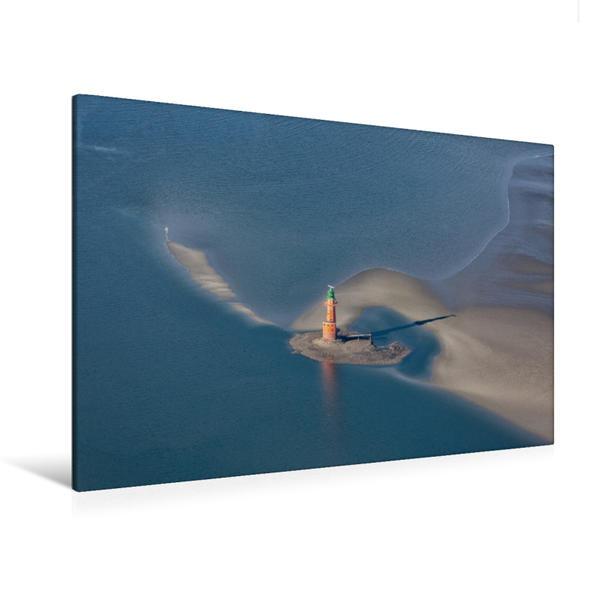 Premium Textil-Leinwand 120 cm x 80 cm quer, Leuchtturm Hohe Weg | Wandbild, Bild auf Keilrahmen, Fertigbild auf echter Leinwand, Leinwanddruck - Coverbild