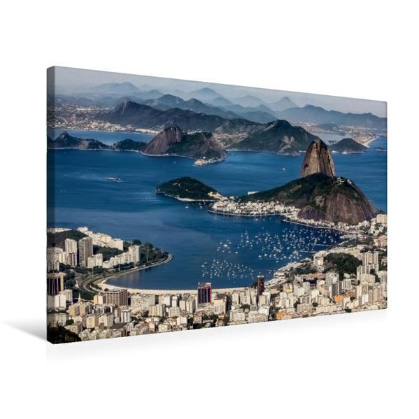 Premium Textil-Leinwand 75 cm x 50 cm quer, Traumblick vom Corcovado  Rio de Janeiro | Wandbild, Bild auf Keilrahmen, Fertigbild auf echter Leinwand, Leinwanddruck - Coverbild