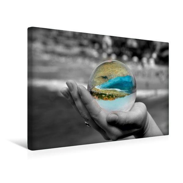 Premium Textil-Leinwand 45 cm x 30 cm quer, Ein Motiv aus dem Kalender Die bunte Welt in der Kugel - neue Blickwinkel | Wandbild, Bild auf Keilrahmen, Fertigbild auf echter Leinwand, Leinwanddruck - Coverbild