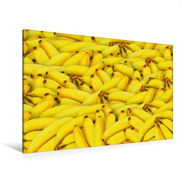 Premium Textil-Leinwand 120 cm x 80 cm quer, Bananen | Wandbild, Bild auf Keilrahmen, Fertigbild auf echter Leinwand, Leinwanddruck - Coverbild