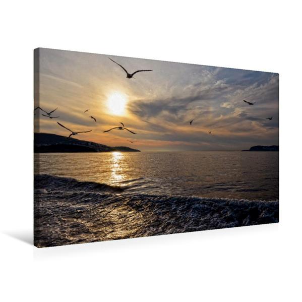 Premium Textil-Leinwand 75 cm x 50 cm quer, Istanbul | Wandbild, Bild auf Keilrahmen, Fertigbild auf echter Leinwand, Leinwanddruck - Coverbild