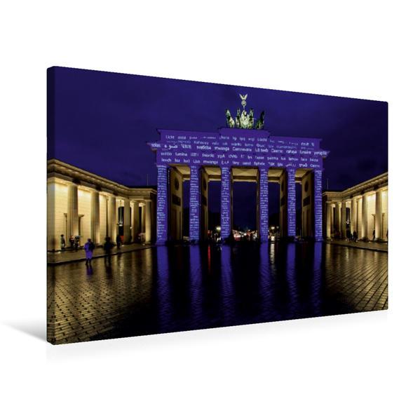 Premium Textil-Leinwand 75 cm x 50 cm quer, Brandenburger Tor   Wandbild, Bild auf Keilrahmen, Fertigbild auf echter Leinwand, Leinwanddruck - Coverbild