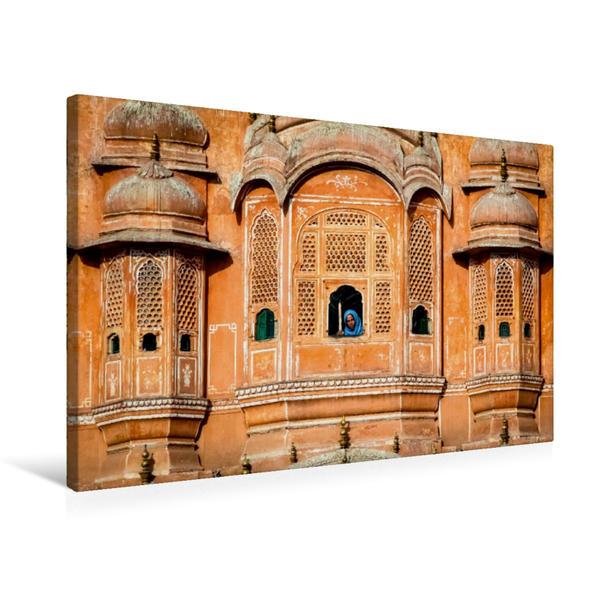 Premium Textil-Leinwand 75 cm x 50 cm quer, Palast der Winde   Wandbild, Bild auf Keilrahmen, Fertigbild auf echter Leinwand, Leinwanddruck - Coverbild