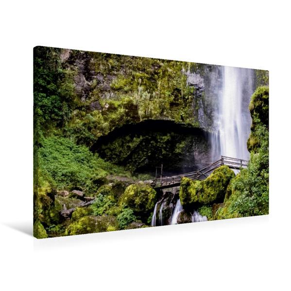 Premium Textil-Leinwand 90 cm x 60 cm quer, Chorro de Giron   Wandbild, Bild auf Keilrahmen, Fertigbild auf echter Leinwand, Leinwanddruck - Coverbild