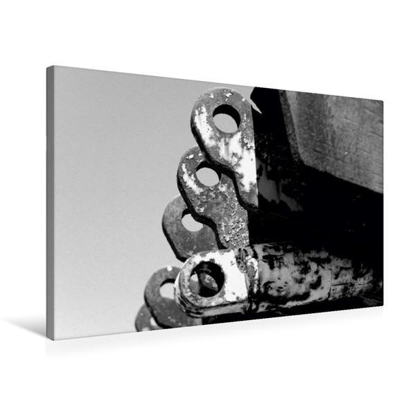Premium Textil-Leinwand 75 cm x 50 cm quer, Ein Motiv aus dem Kalender Helden der Arbeit - Alte Arbeitsmittel des Ruhrgebiets | Wandbild, Bild auf Keilrahmen, Fertigbild auf echter Leinwand, Leinwanddruck - Coverbild