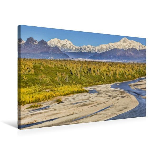 Premium Textil-Leinwand 75 cm x 50 cm quer, Mount McKinley | Wandbild, Bild auf Keilrahmen, Fertigbild auf echter Leinwand, Leinwanddruck - Coverbild