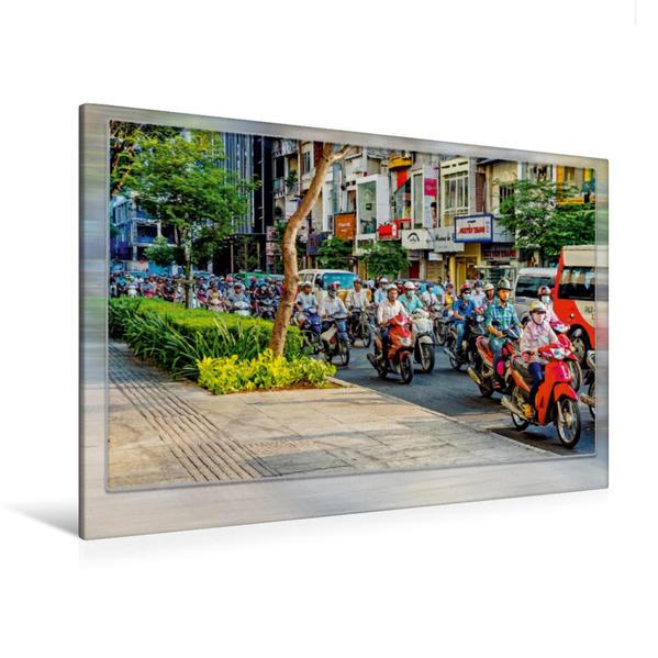 Premium Textil-Leinwand 120 cm x 80 cm quer, Vietnam, Ho Chi Minh | Wandbild, Bild auf Keilrahmen, Fertigbild auf echter Leinwand, Leinwanddruck - Coverbild