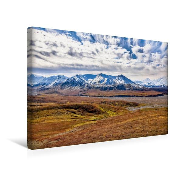 Premium Textil-Leinwand 45 cm x 30 cm quer, Blick vom Eielson Visitor Center im Denali National Park | Wandbild, Bild auf Keilrahmen, Fertigbild auf echter Leinwand, Leinwanddruck - Coverbild