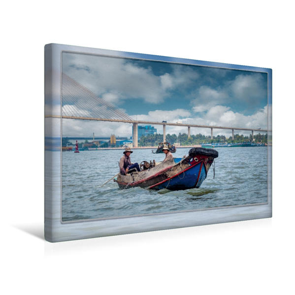 Premium Textil-Leinwand 45 cm x 30 cm quer, Vietnam, Mui Ne | Wandbild, Bild auf Keilrahmen, Fertigbild auf echter Leinwand, Leinwanddruck - Coverbild
